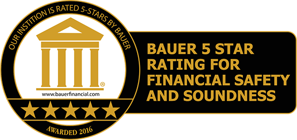 KVSB Rated 5 Stars by Bauer Financial, Inc.