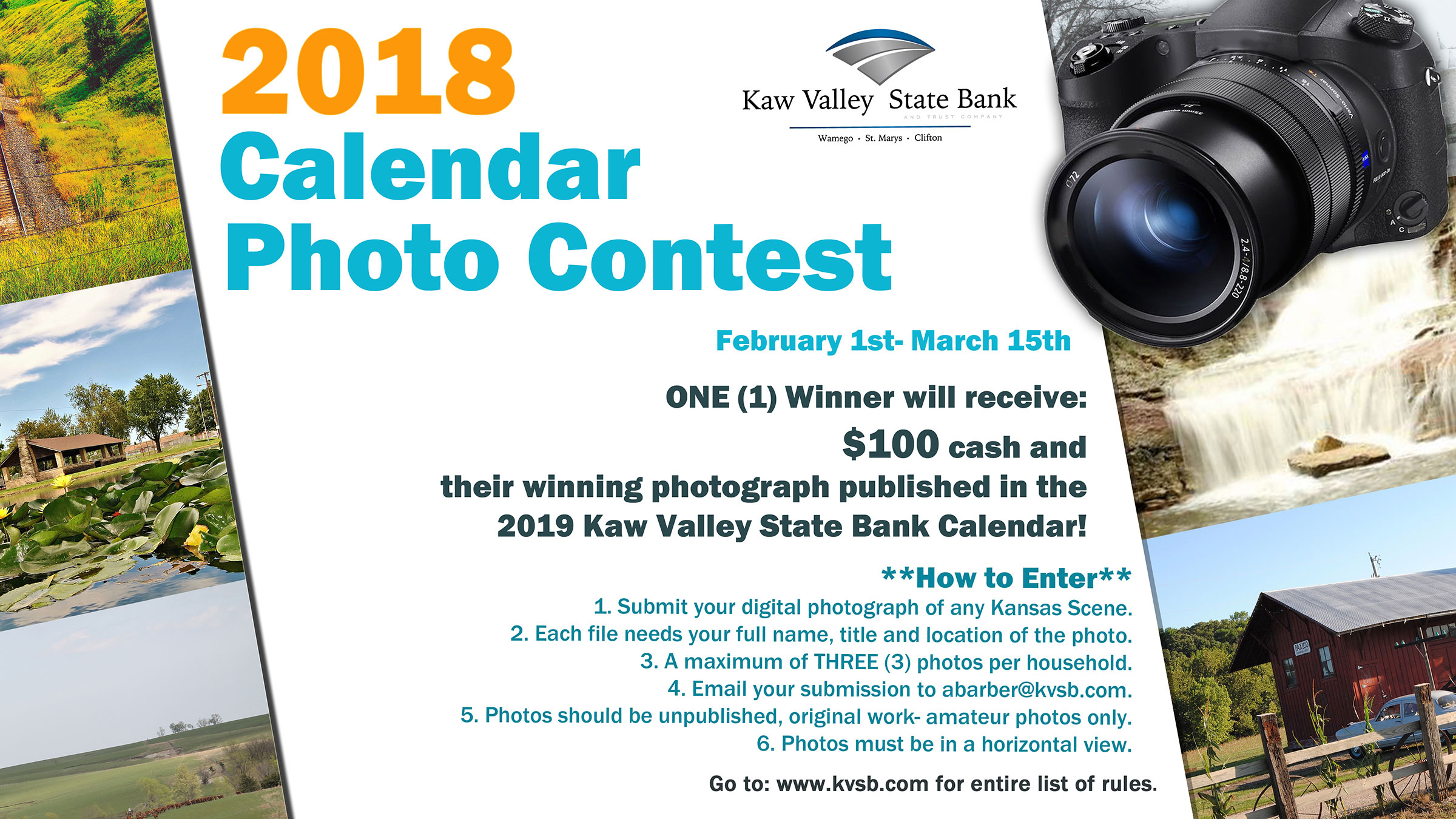 Calendar Photography Contest : Calendar photo contest kaw valley state bank